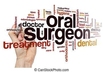 Oral surgeon word cloud