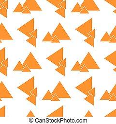 orande, seamless, pyramider