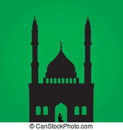 orando, muçulmano, homem