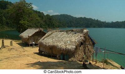 Orang Asli Village Huts | Temenggor Lake, Malaysia - Wide ...