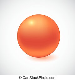 3D sphere isolated on white.