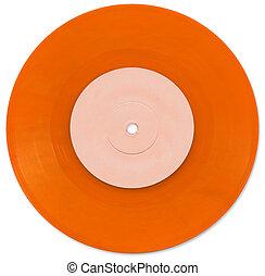 Orange 7 inch Vinyl Single scanned in high resolution