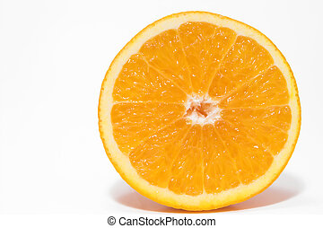 Orange - A cross section of a fresh and juicy orange.
