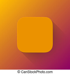 Orange Abstract App Icon Blank Template - Orange abstract...