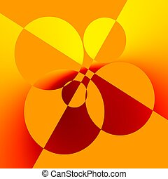Orange Abstract Art Background Design - Creative