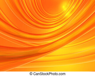Orange abstract background - Computer generated orange...