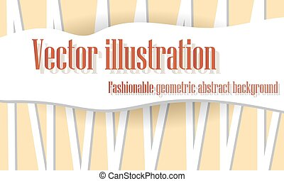 Orange abstract background of lines, vector illustration.