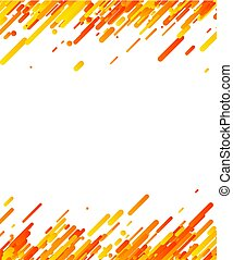 Orange abstract background on white.