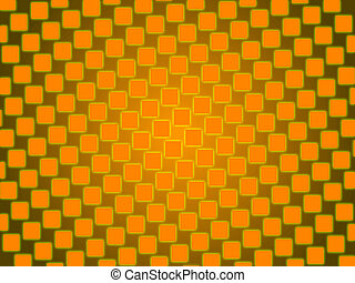 orange abstract background, squares