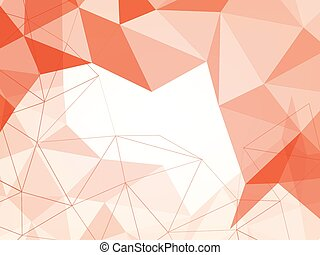 orange abstract background with line polygon shape