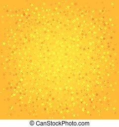 Orange abstract background with stars