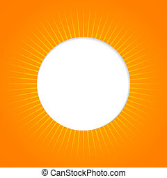 Orange abstract background with sun
