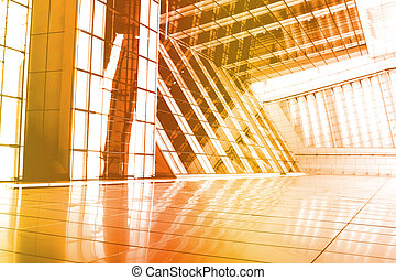 Orange Abstract Building Wallpaper