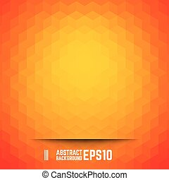 Orange abstract cube background