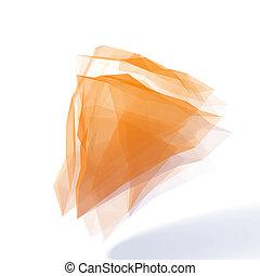 Orange Abstract  Design Element