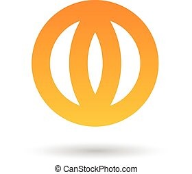 Orange Abstract Icon