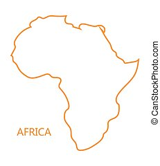 orange abstract map of Africa