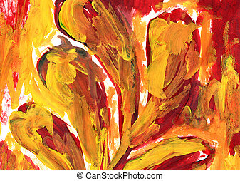 orange abstract painting by texture