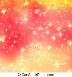 Orange abstract romantic background with stars. EPS 10 vector file included