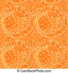 Orange abstract seamless pattern
