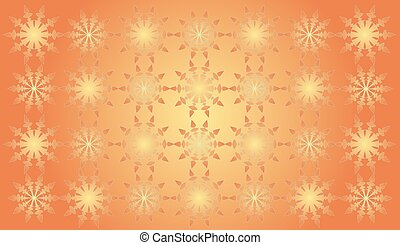Orange abstract shapes pattern