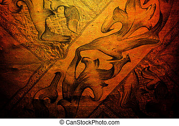 Orange abstract texture vintage