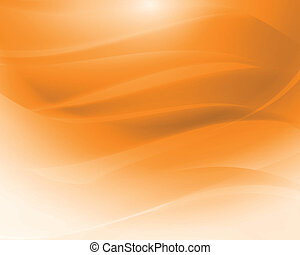 Orange abstract waves vector - Abstract background of...
