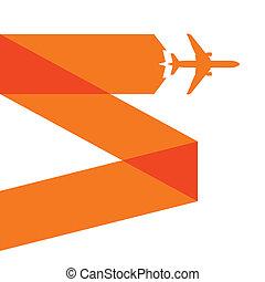 Orange airplane icon