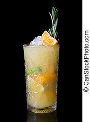 Orange alcohol cocktail
