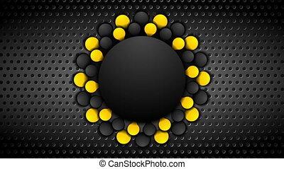 Orange and black contrast corporate animated background....