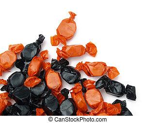 Halloween candy - orange and black Halloween candy