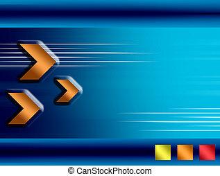 Orange and blue background