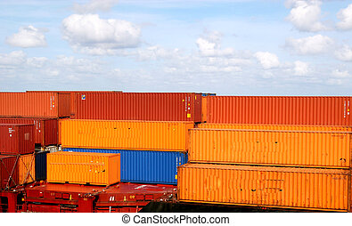 Orange and Blue Freight