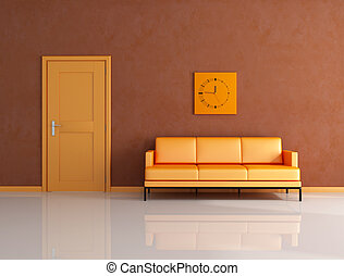 orange and brown lounge - orange and brown living room with...