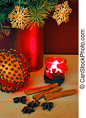 Orange and candle