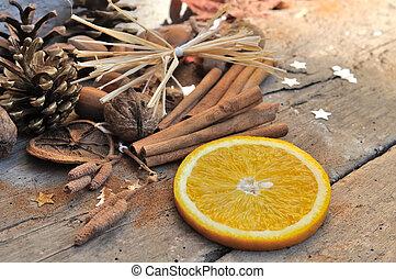 orange and cinnamon for dessert