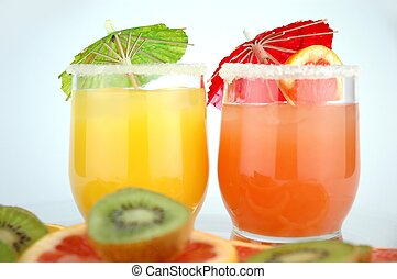 Cocktails - Orange and grapefruit Cocktails