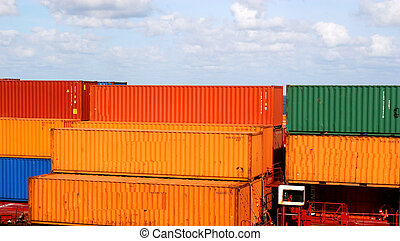 Orange and Green Freight