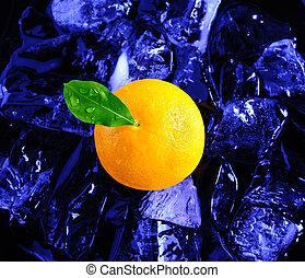 Orange and ice