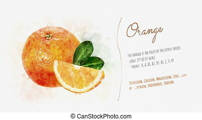 Orange and its beneficial properties - A video card showing...