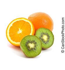 Orange and Kiwi Fruit