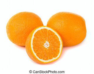Orange and lemon fruit background