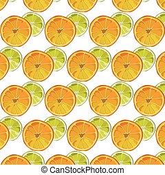Orange and Lime fresh slices