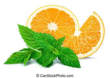 orange and mint