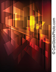Orange and red abstract vector background