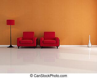 orange and red interior