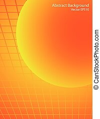 Orange and red sphere vector background