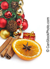 orange and spices for celebration