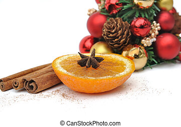 orange and spices for Christmas