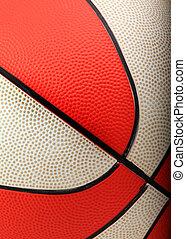 orange and white basketball closeup